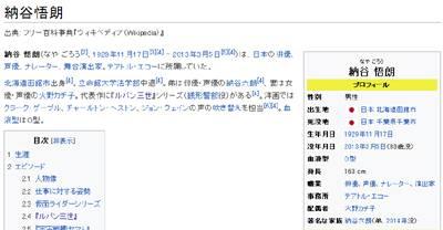 納谷悟朗(ウィキペディア)
